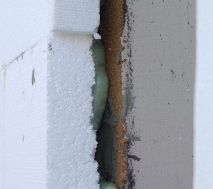 зазовская фото промерзания фасада это